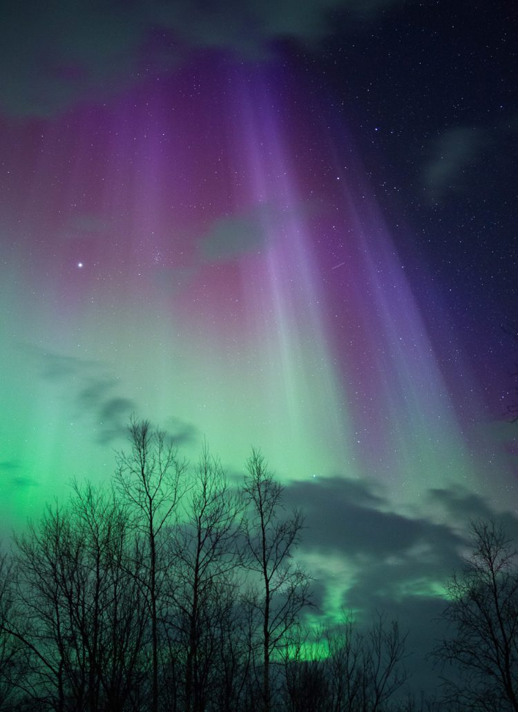 The colors of the northern lights in Norway