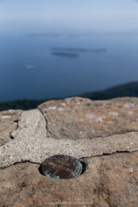 Views of the San Juan islands from the top of Mt Constitution in Orcas Island, Washington