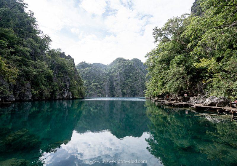 Kayangan Lake can be visited during an island hopping tour in Coron, Palawan