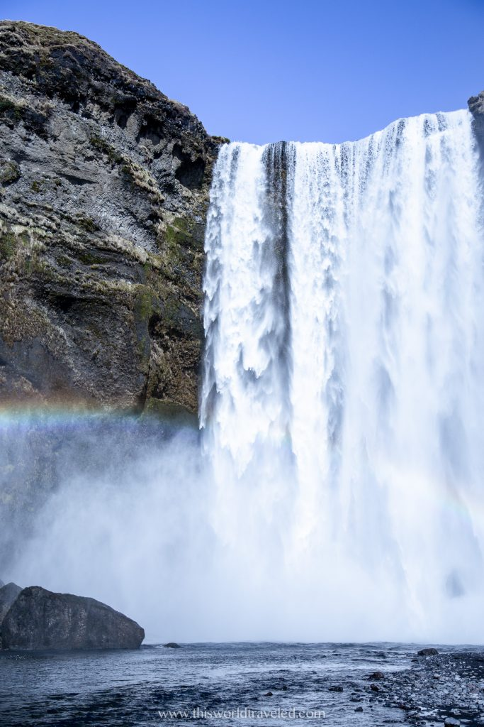 The Skogafoss waterfall in south Iceland