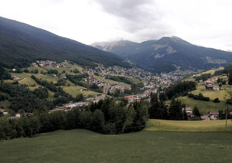 The large Dolomites mountains and landscapes of Alpe di Siusi in northern Italy