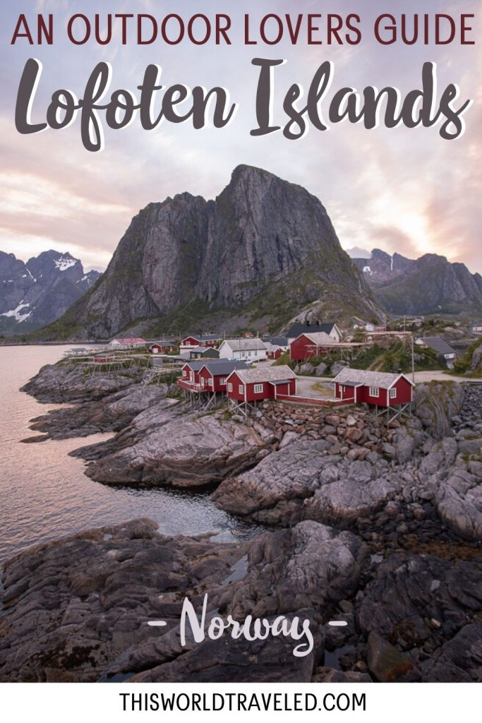 The red fishing huts of Eliassen Rorbuers located in Hamnøy in the Lofoten Islands