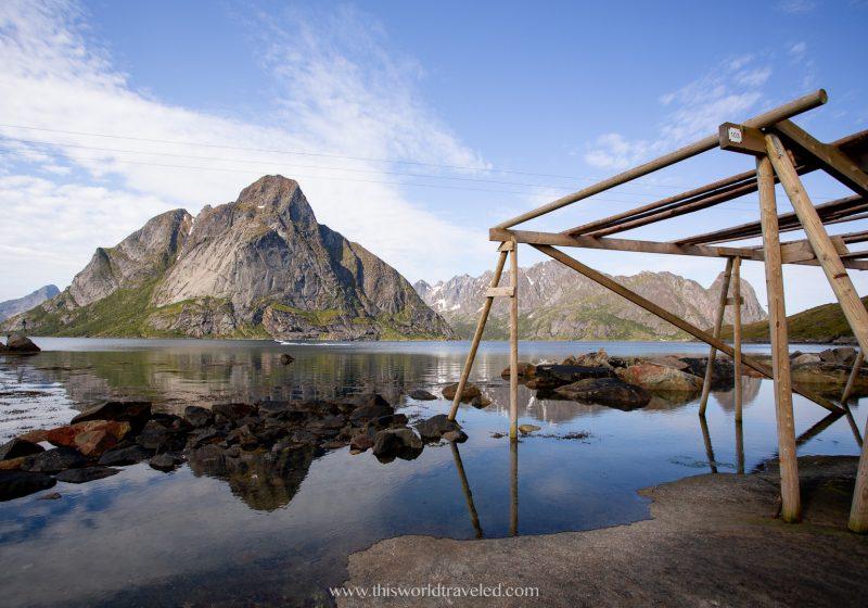 Drying racks for the stockfish in the Lofoten Islands