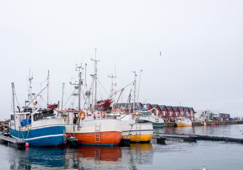 boats in the harbor in Andenes in northern Norway