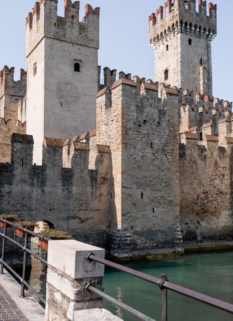The Sirmione castle in Sirmione, Italy
