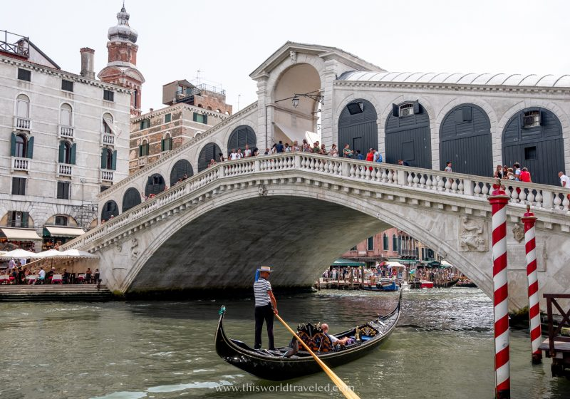 One of the best places to visit in northern Italy is Venezia and the Rialto bridge is a massive bridge that connects both sides of the Grand Canal