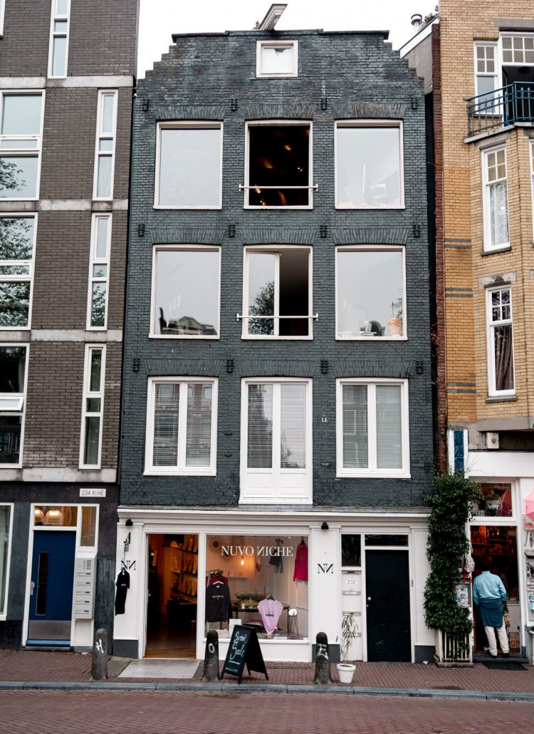 An Amsterdam row house which is the shops called Nuvo Niche