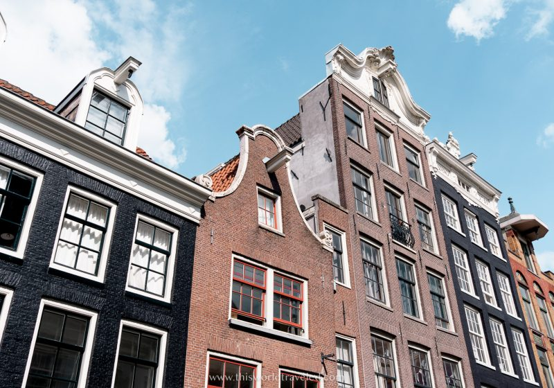 Brown row houses in Amsterdam