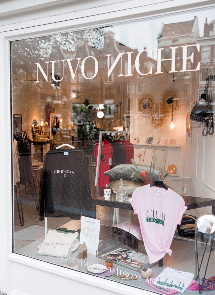 The outside of an Amsterdam boutique shop called Nuvo Niche