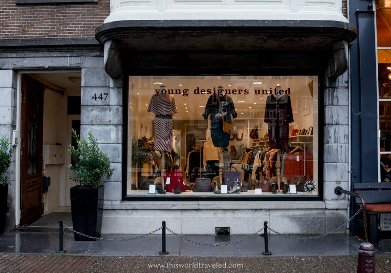 A shop called Young Designers United in Amsterdam, Netherlands
