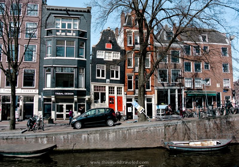 The dancing houses of Spiegelgracht in Amsterdam
