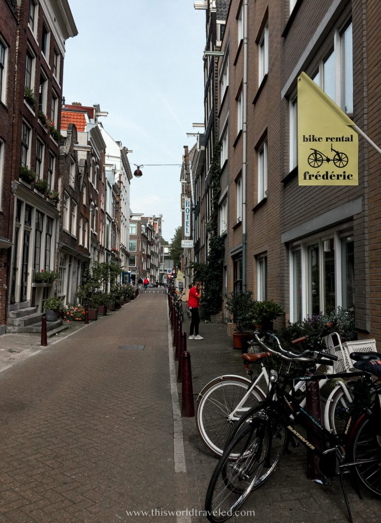 Frederic Bike Rental shop in Amsterdam, Netherlands