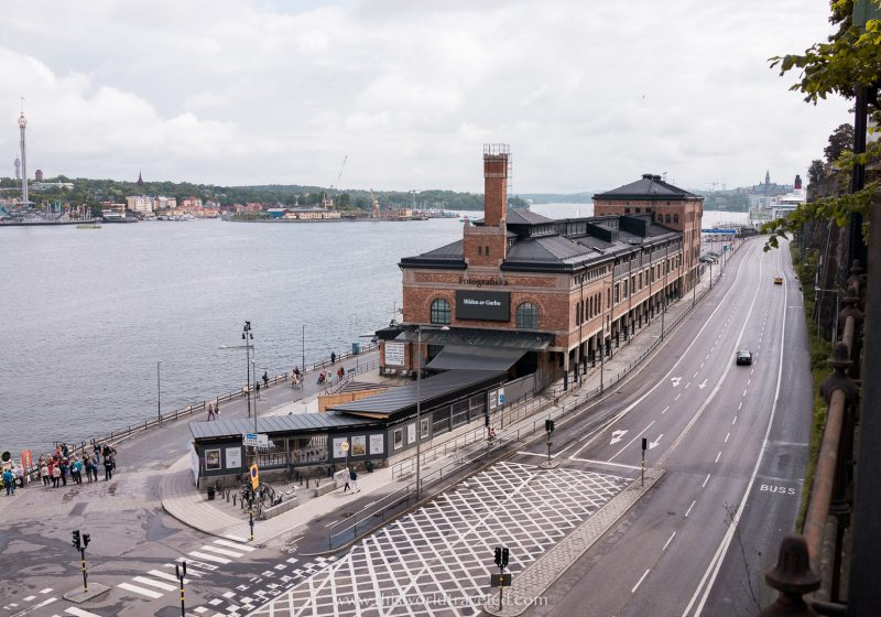 A large building which houses the Fotografiska museum Stockholm