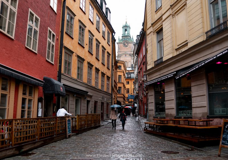 The colorful streets of Gamla Stan