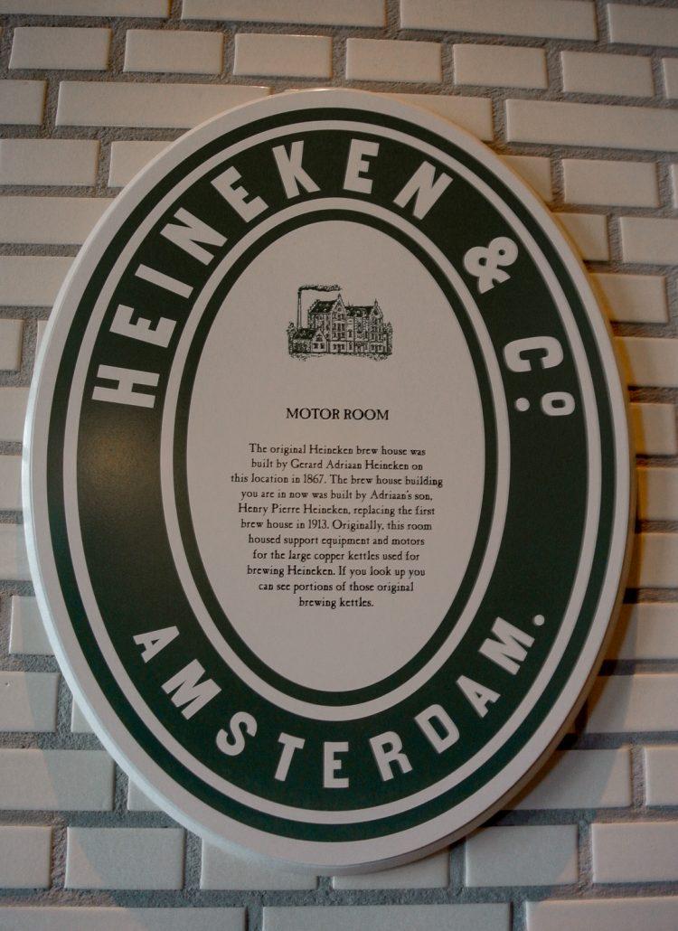 A sign of the Heineken & Co Amsterdam