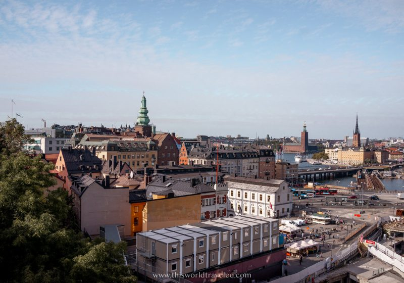A panoramic view of Stockholm from Sodermalm