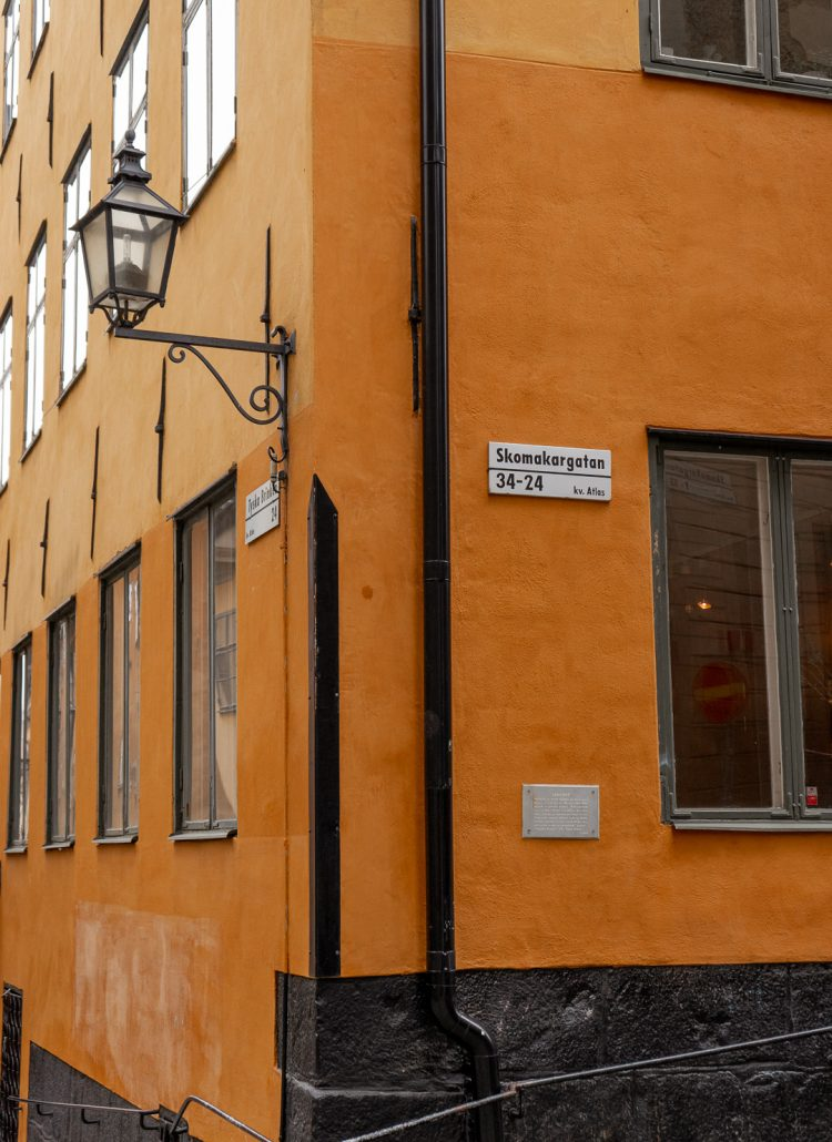 Yellow colored buildings in Stockholm