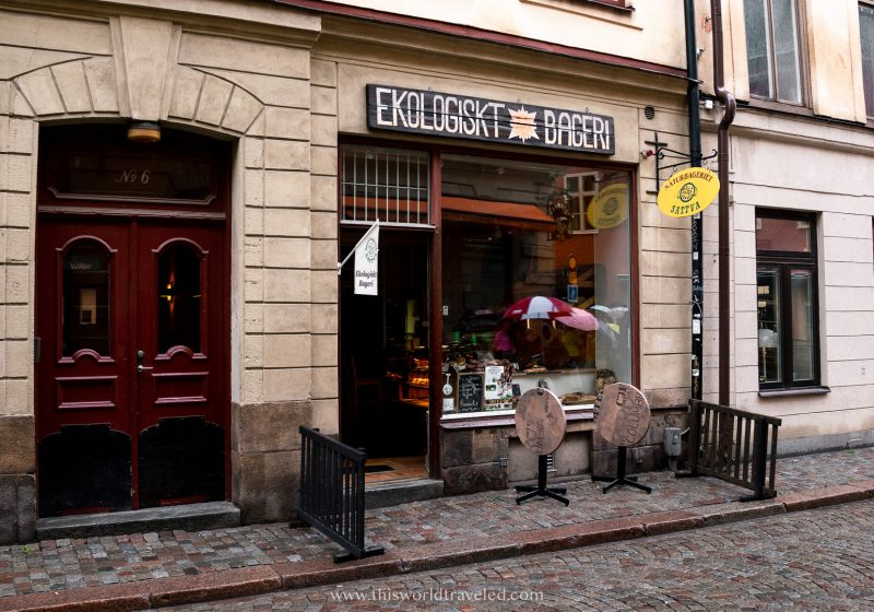 The exterior Naturbageriet Sattva in Stockholm's Gamla Stan