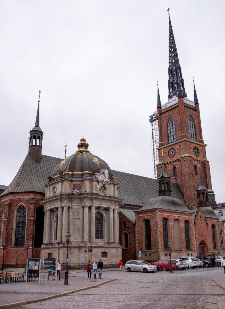 The Riddarholmen church in Gamla Stan