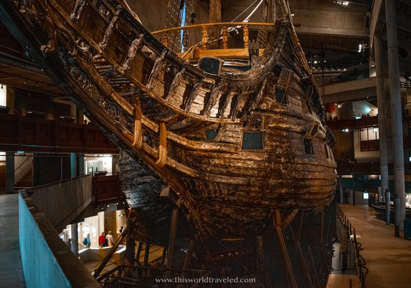 The preserved vasa ship which can be found in a museum in Stockholm