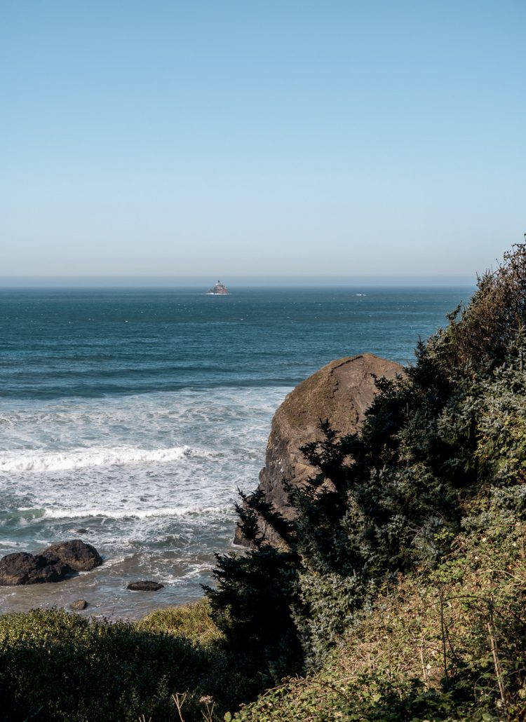 Views of the Pacific ocean from Ecola Point in Oregon