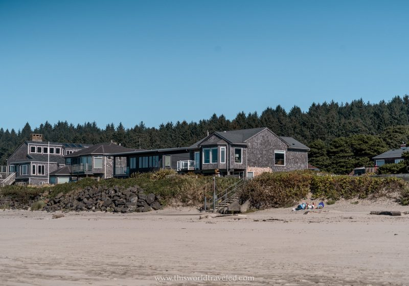 A beachfront bungalow on Cannon beach in Oregon