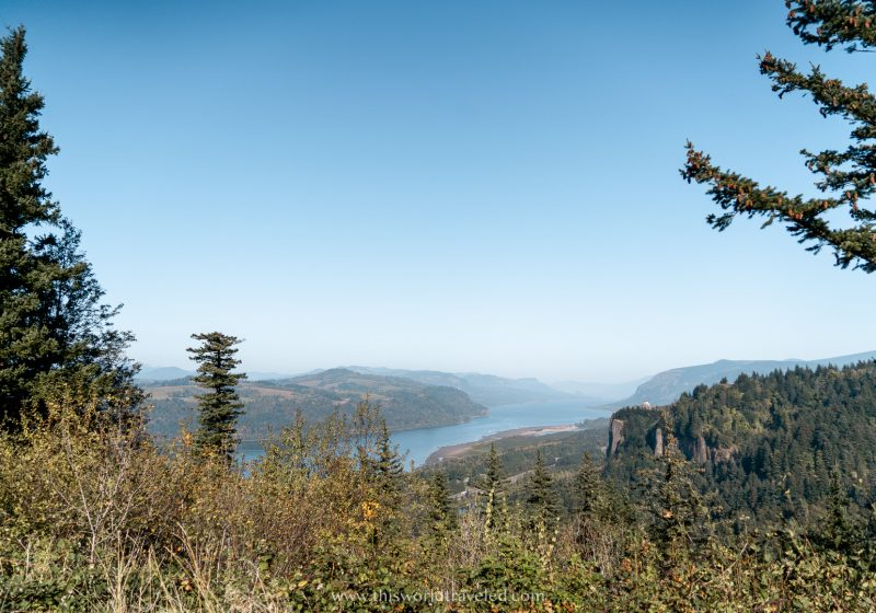 View of the Colombia River Gorge from the Portland Women's Forum Scenic Viewpoint
