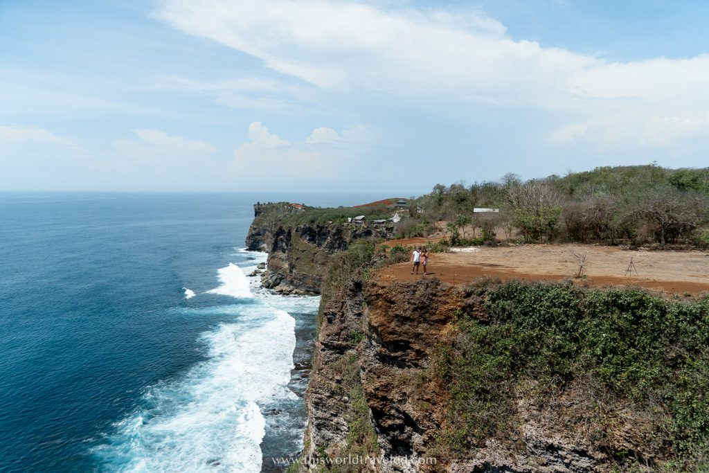 The view of the ocean and cliff from Karang Boma Cliff in Uluwatu, Bali
