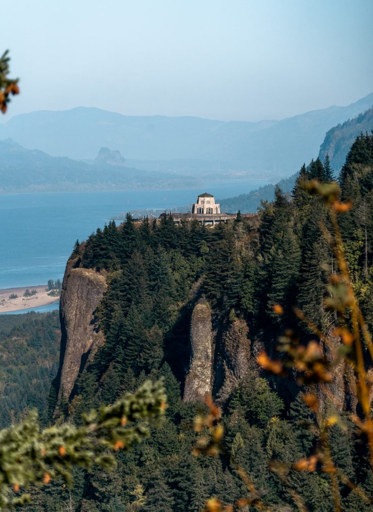 Vista House on Crown Point in Portland Oregon