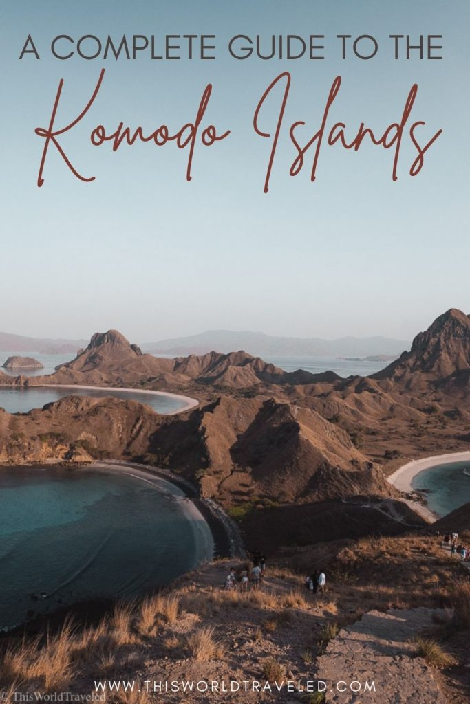View of Rinca Island in the Komodo Islands in Indonesia