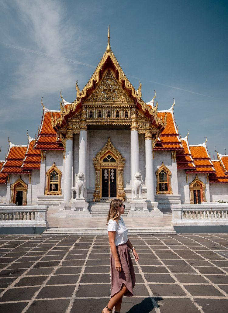 Temples of Wat Benchamabophit in Bangkok, Thailand