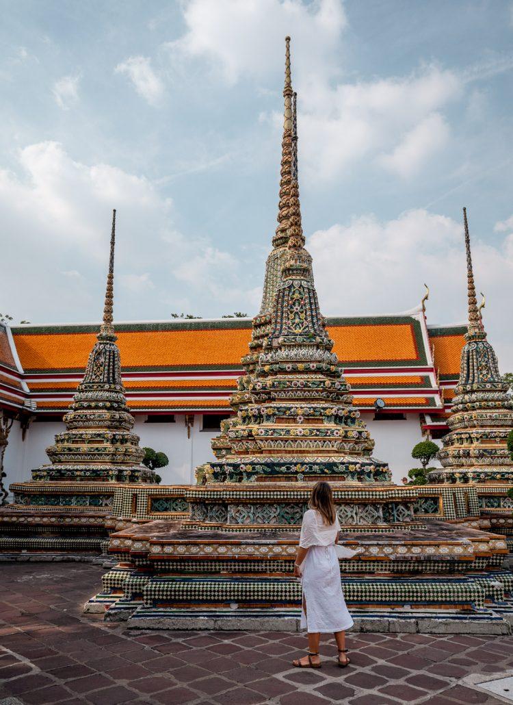 Temples of Wat Pho in Bangkok, Thailand