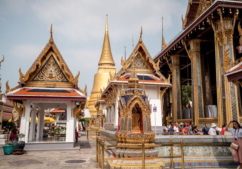 The Grand Palace is one of the most famous Bangkok temples in Thailand