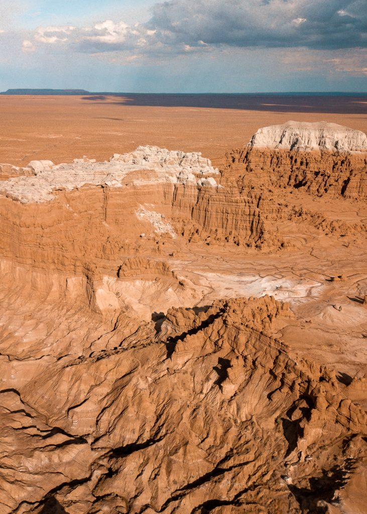 Large, oddly shaped rock formations at Goblin Valley State Park in Utah